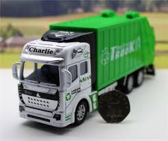 100 Rubbish Truck Garbage Bin Lorry Orange And Green Model Toy