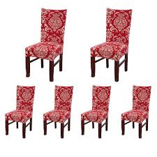 100 Amazon Red Chair Covers Com SoulFeel Set Of 6 X Stretchable Dining