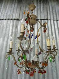 vintage antique italian murano glass fruit and chandelier