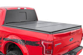 Hard Tri-Fold Bed Covers For 2015-2018 Ford F-150 Pickup | Rough ... Vortrak Retractable Truck Bed Cover Heavy Duty Hard Tonneau Covers Diamondback Hd Undcover Flex Highway Products Inc Bak Flip Mx4 From Logic Accsories Best Buy In 2017 Youtube Commercial Alinum Caps Are Caps Truck Toppers Tonnopro Accories Vicrezcom Sportwrap Lid Soft Trifold For 42017 Toyota Tundra Rough Country Fletchers Missouri