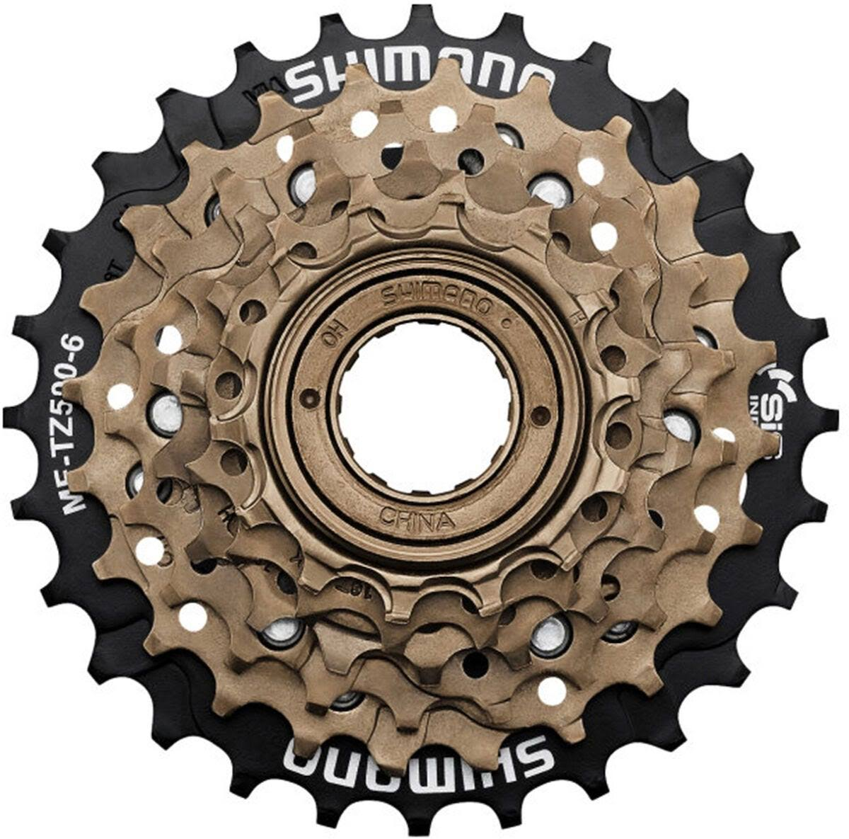 Shimano Multi Freewheel - Black and Gold, 14-28t