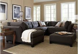 Cindy Crawford Home Metropolis Slate 4 Pc Sectional Living Room