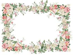 Free Vintage Flower Frame Png Freebies