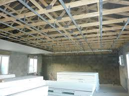 plafond rail et placo construction maison sp