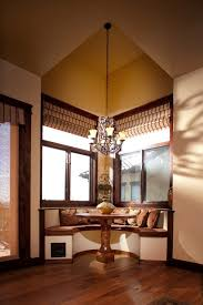 Breakfast Nook Decorating Ideas Living Room Traditional With Iron Chandelier Eat In Kitchen Roman Shades