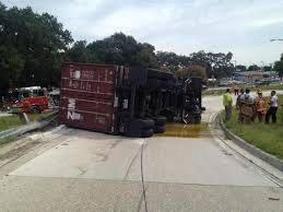 Overturned Truck Dumps Olive Oil Onto I-275 Ramp At Hillsborough Ave ... A View Of An Overturned Truck On Highway In Accident Stock Traffic Moving Again After Overturned 18wheeler Dumps Trash On Truck Outside Of Belvedere Shuts Down Sthbound Rt 141 Us 171 Minor Injuries Blocks 285 Lanes Wsbtv At Millport New Caan Advtiser Drawing Machine Photo Image Road Brutal Winds Overturn Trucks York Bridge Abc13com Dump Blocks All Northbound Lanes I95 In Rear Wheels Skidded Royalty Free