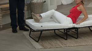 Aerobed With Headboard Uk by Jaybe Fold Away Single Or Double Bed With Mattress On Qvc Youtube