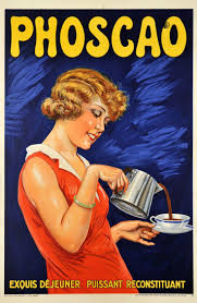 1930 Phocao French Hot Chocolate Exquisite At The Breakfast Strong Tonic Vintage Advert Poster