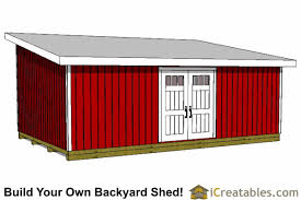 16x24 lean to shed plans large lean to shed plans