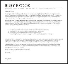 Petroleum Engineer Cover Letter Sample