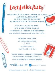Letter Writers Alliance Write Party