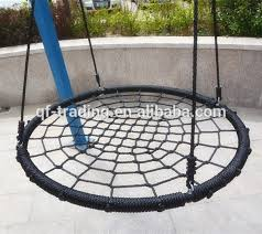 Outdoor Round Hammock Swing Chair And Web For Kids