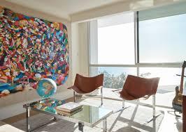 100 Carter Design Oceanfront Apartment Showcases Art Collection