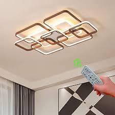 120w led deckenleuchte dimmbar modern deckenle weiß und braun metall und acryl creative design deckenleuchte led für wohnzimmer schlafzimmer