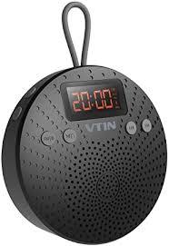 vtin relaxer duschlautsprecher mit fm radio wasserdichtes bluetooth duschradio lcd anzeige 10 stunden spielzeit eingebautes mikrofon mit