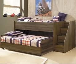 B251 Juararo Loft Bed with Caster Bed and Stairs