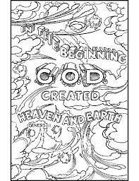Creation Coloring Pages AZ Bible Sheets Inside Scripture
