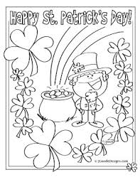 St Patricks Day Printable Coloring Activity Sheets