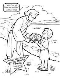 Jesus Feeds 5000 Coloring Page Az Pages Inside The Amazing And Interesting