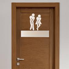 Funny Bathroom Door Art by Aliexpress Com Buy 2015 Wall Sticker Creative Funny Toilet