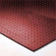 Virgin Rubber Gym Flooring With Solid Colors And Different Patterns Like Diamond Plate Pebble Grain
