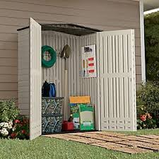 amazon com rubbermaid plastic small outdoor storage shed 53