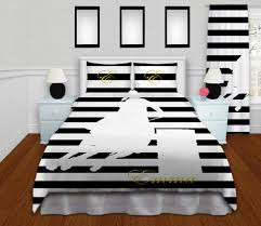 Twin Horse Bedding by Personalized Barrel Racing Comforter Horse Black U0026 White