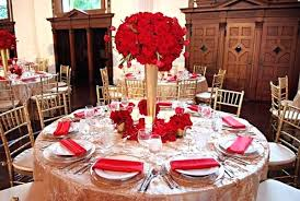 Red And Gold Decorations White Wedding Reception By Stark Photography Maharani