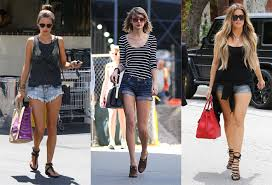 Celebs Show Off Their Slim Pins In Denim Cut Offs And Short Shorts As The Summer Heats Up
