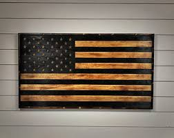 Capricious Wood American Flag Wall Art With Etsy Wooden US Distressed Rustic