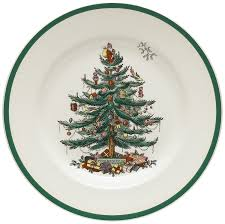 Best Christmas Tree Type For Allergies by Amazon Com Spode Christmas Tree 10 1 2 Inch Dinner Plates Set