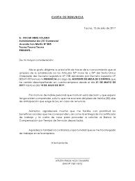 Carta De Renuncia Raizadocx