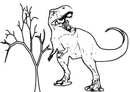 Tyrannosaure Coloriage Du Dinosaure Tyrannosaure Gratuit à Imprimer