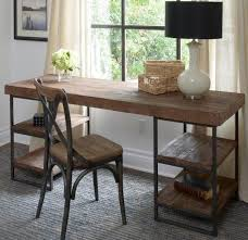 Utilitarian In Design And A Combination Of Industrial Rustic Looks The Morella Desk Combines Reclaimed Distressed Wood With Iron For Look That