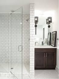 white subway tile shower houzz