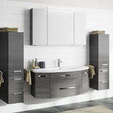 badezimmer set mit 120cm keramik waschtisch spiegelschrank 2 midisc