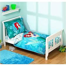 disney s little mermaid 4 piece toddler bedding set amazon co uk