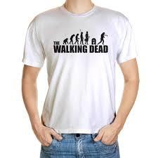 walking dead based evolution mens funny t shirt zombies horror