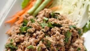 cuisine recette recette khmère laab haché bœuf au riz frit recettes de cuisine