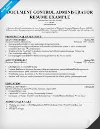 Document Control Administrator Resume Help Resumecompanion