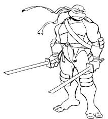 Ninja Turtle Coloring Page Free Printable Teenage Mutant Turtles Sheets Colouring Color Pages