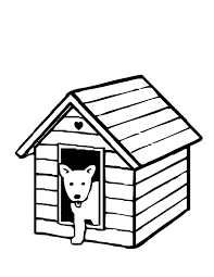 Dog House Coloring Page 14 Found Bone In Front Of Pages