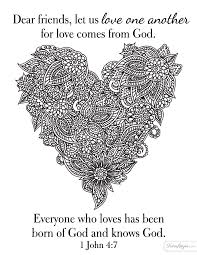 Love Comes From God Coloring Page