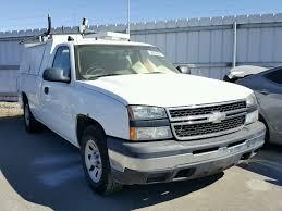 100 2007 Chevy Truck For Sale 1GCEC14X77Z147657 WHITE CHEVROLET SILVERADO On