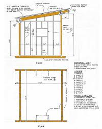 12x16 Shed Plans Material List by 10 12 Lean To Storage Shed Plans U2013 How To Construct A Slant Roof Shed