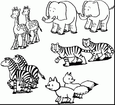 Surprising Noah Ark Animals Coloring Pages With Free Printable Animal And Jungle