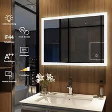 meykoers wandspiegel badezimmerspiegel led badspiegel mit