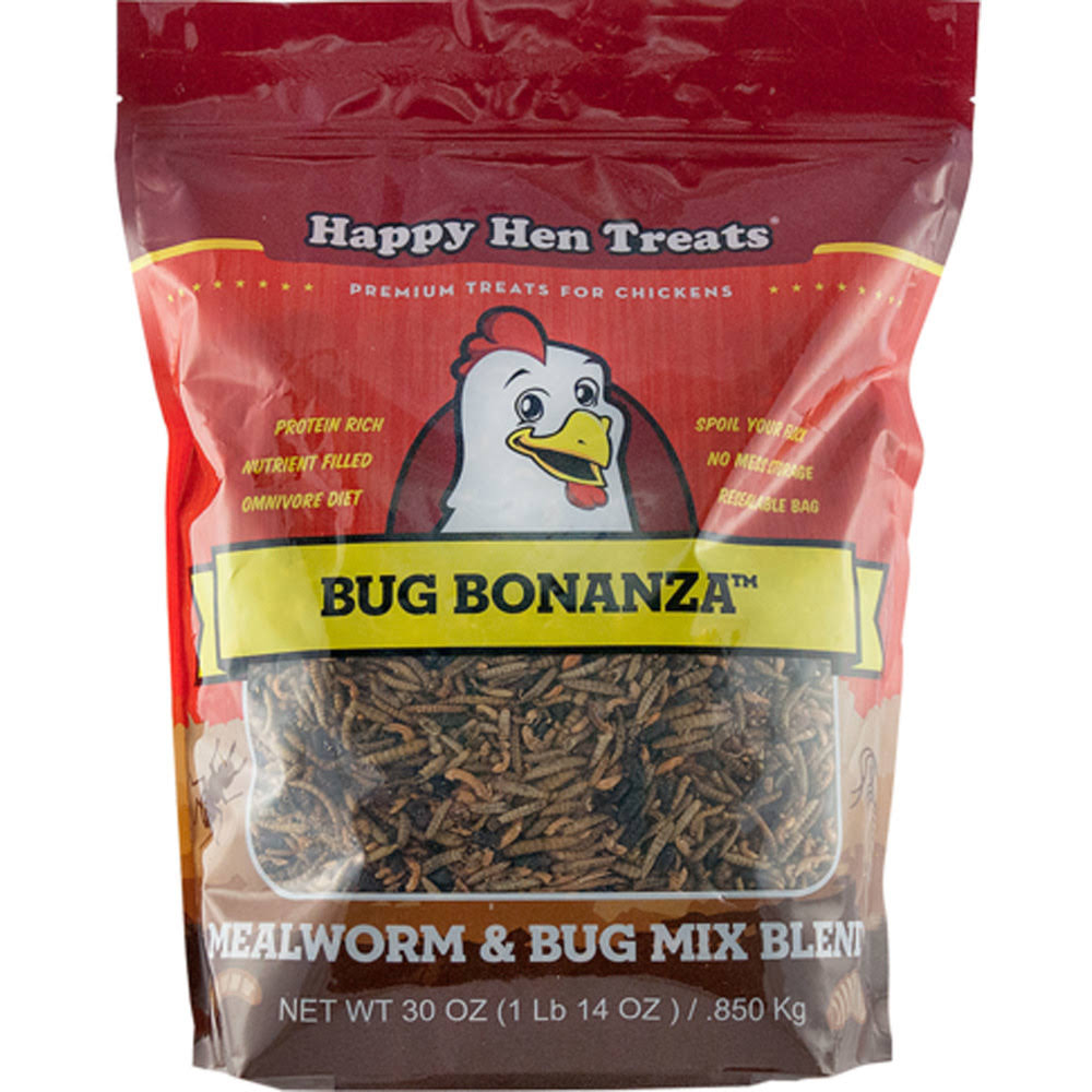 Happy Hen Treats Bug Bonanza - Chicken Treat, 30oz