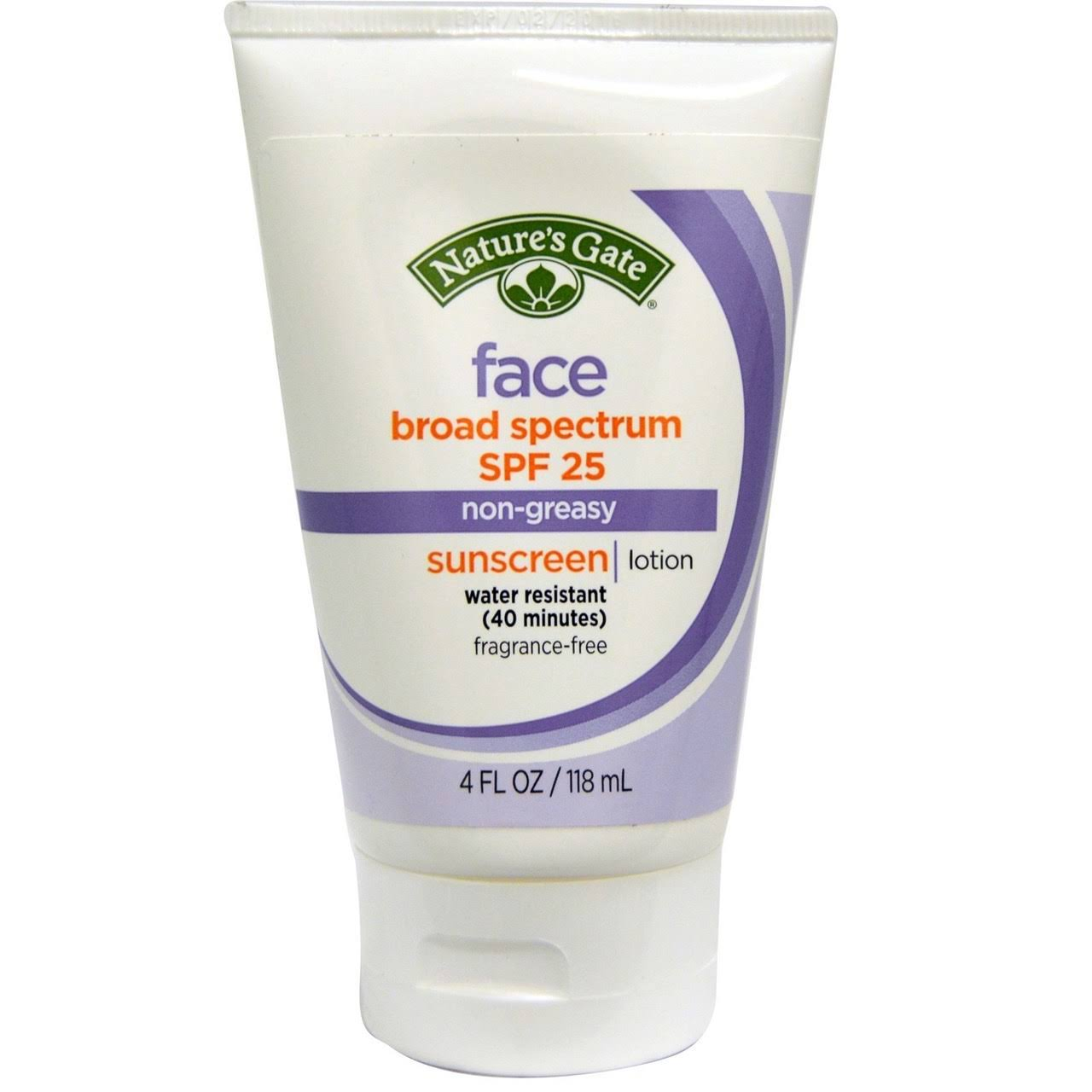 Nature's Gate Face Broad Spectrum Sunscreen Lotion - SPF 25, 118ml