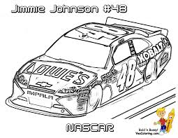 Johnson NASCAR Car Coloring At YesColoring Race Pages